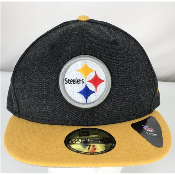 7fffabb4cc1 NFL Pittsburgh Steelers New Era 59Fifty Cap 7 3 8